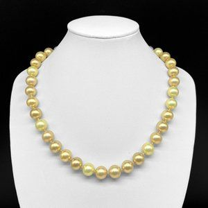Vintage Carolee Golden Cream Faux Pearl Necklace